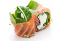 84 Saumon roll roquette fromage